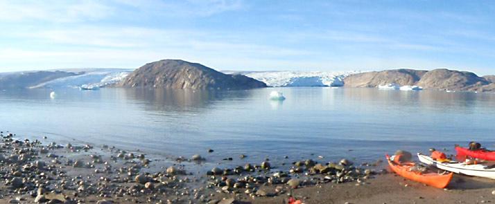 kayak and ice hiking in greenland qaleraliq